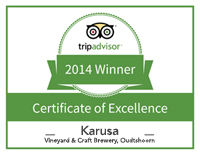 Winner Certificate of Excellence Trip Advisor 2014